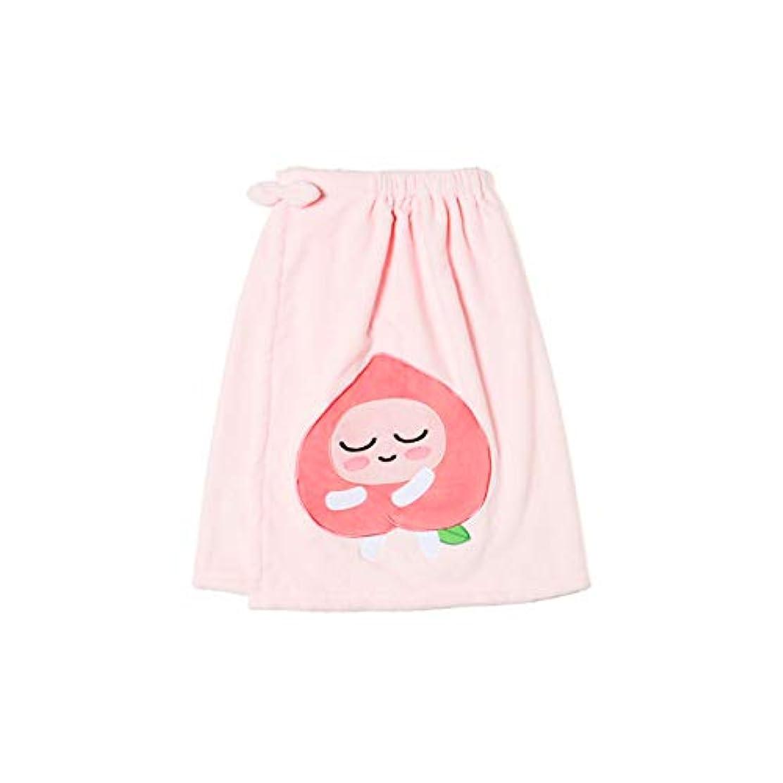何故なのしがみつく作詞家[オフィシャル] カカオフレンズ – スイートアピーチ バスドレスガウンピンク KAKAO FRIENDS - Sweet Apeach Bath Dress Pink