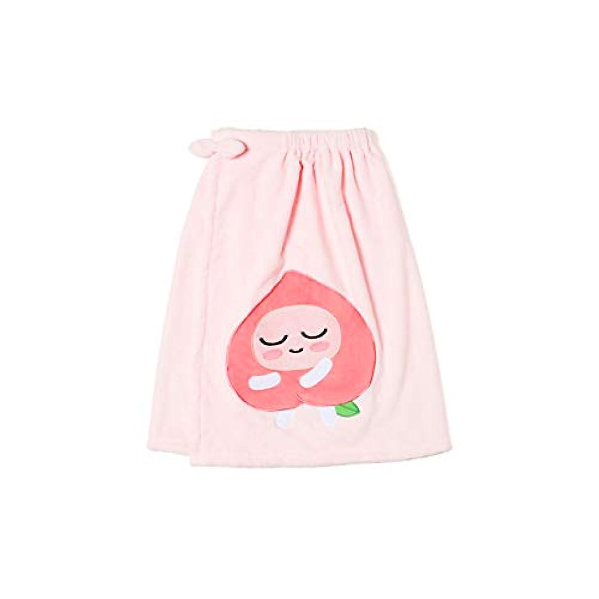 歯科医お別れ騒乱[オフィシャル] カカオフレンズ – スイートアピーチ バスドレスガウンピンク KAKAO FRIENDS - Sweet Apeach Bath Dress Pink