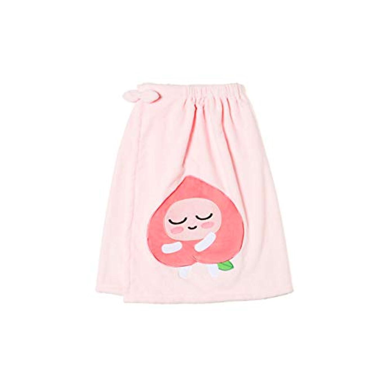 疲れた夜の動物園協力的[オフィシャル] カカオフレンズ – スイートアピーチ バスドレスガウンピンク KAKAO FRIENDS - Sweet Apeach Bath Dress Pink