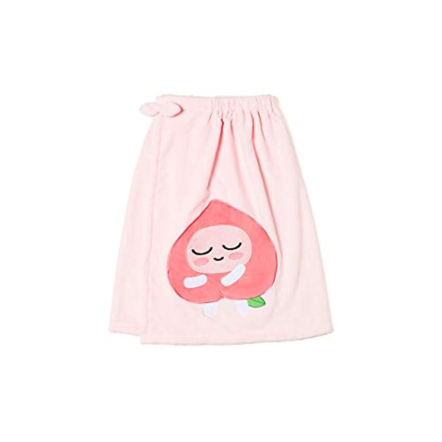 彼は飢裏切る[オフィシャル] カカオフレンズ – スイートアピーチ バスドレスガウンピンク KAKAO FRIENDS - Sweet Apeach Bath Dress Pink