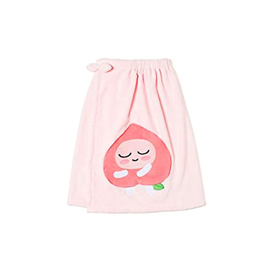 スイス人砂スロット[オフィシャル] カカオフレンズ – スイートアピーチ バスドレスガウンピンク KAKAO FRIENDS - Sweet Apeach Bath Dress Pink