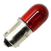エイコ1820r 28V 1A t3–1/ 4ミニチュアバヨネットベースハロゲン電球、レッド