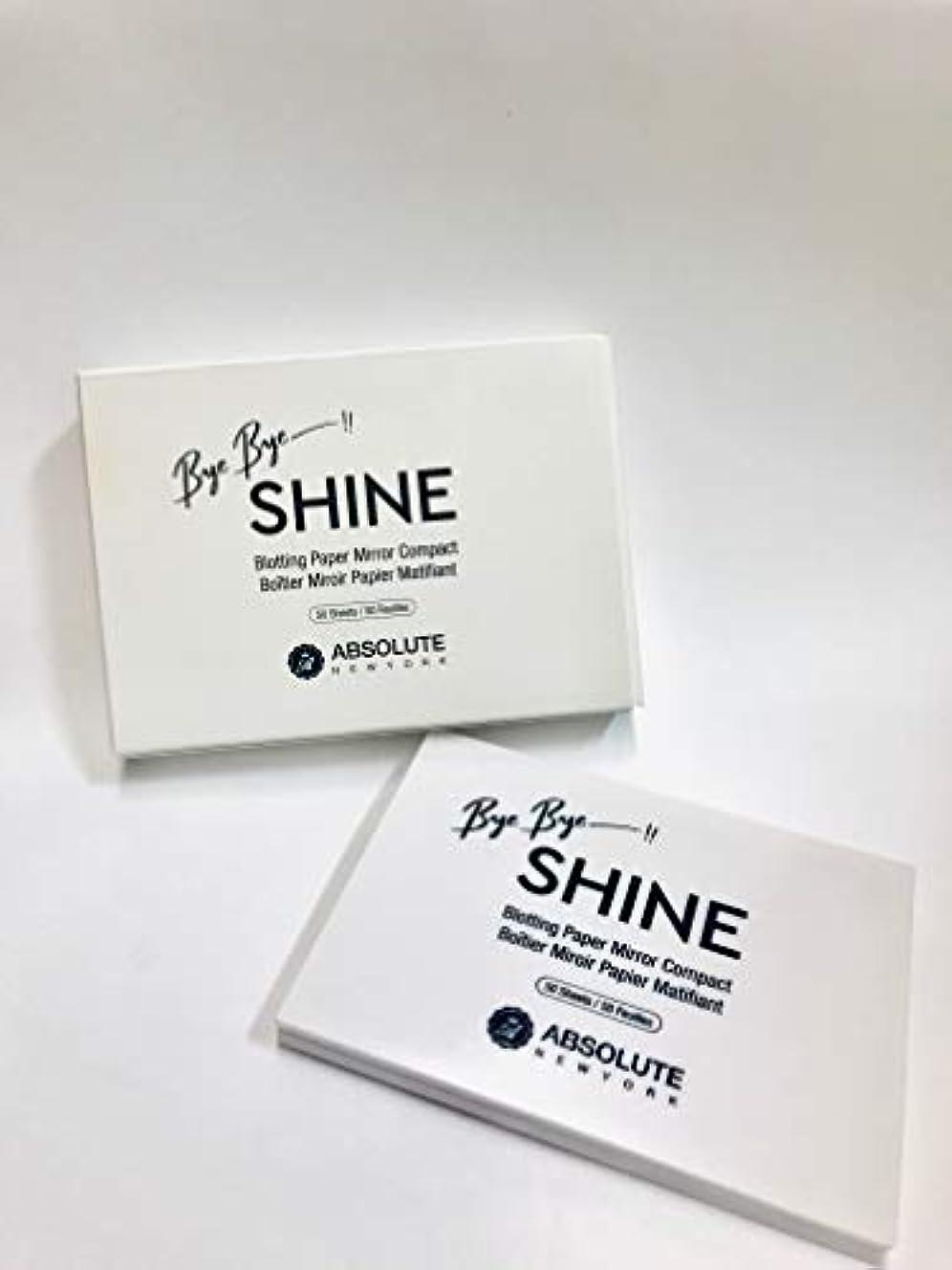 ジャンピングジャック流用する机ABSOLUTE Bye Bye Shine Blotting Paper Mirror Compact (並行輸入品)