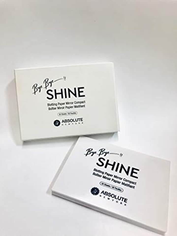 苦行マサッチョクリエイティブABSOLUTE Bye Bye Shine Blotting Paper Mirror Compact (並行輸入品)