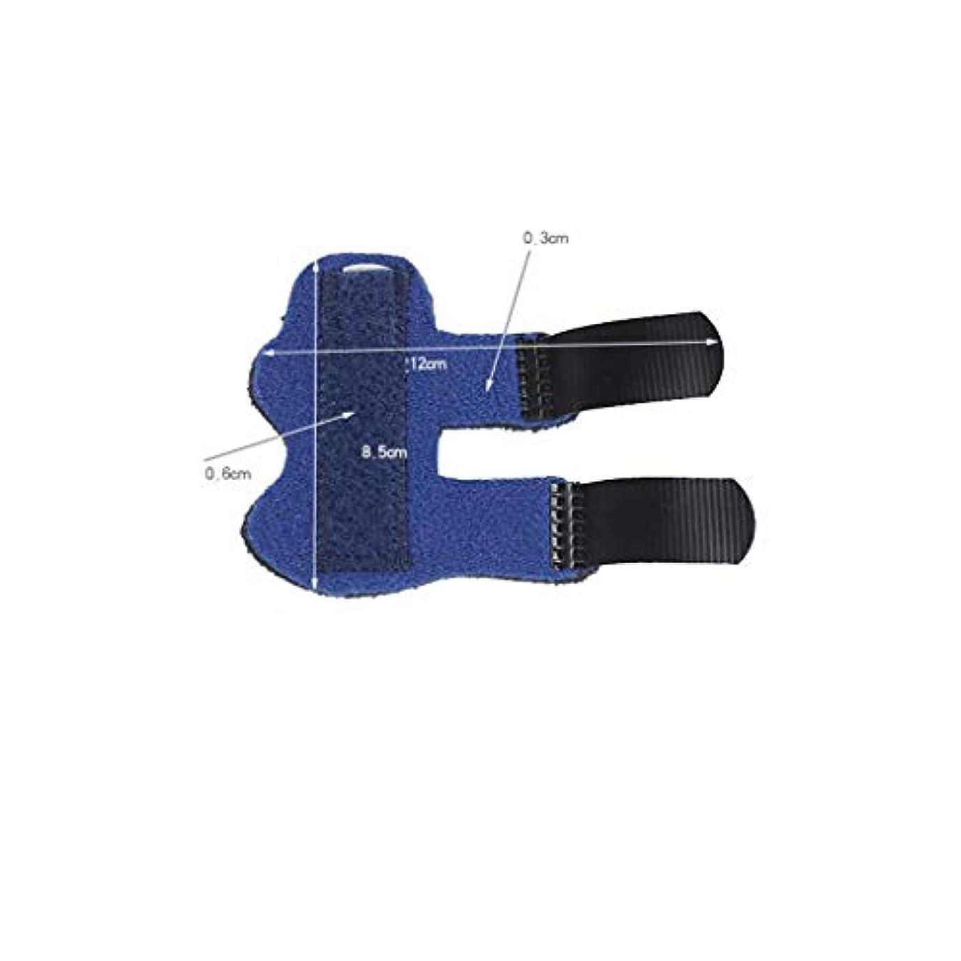 フィンガーサポート、アルミ固定、固定スリーブ、四季用ユニバーサル、指矯正に適し、骨折捻挫,Blue