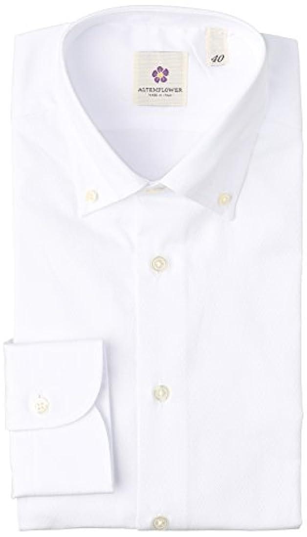 荷物ロマンス一般化する(アルテムフラワー) ALTEMFLOWER ボタンダウン 織柄 ビジネスシャツ