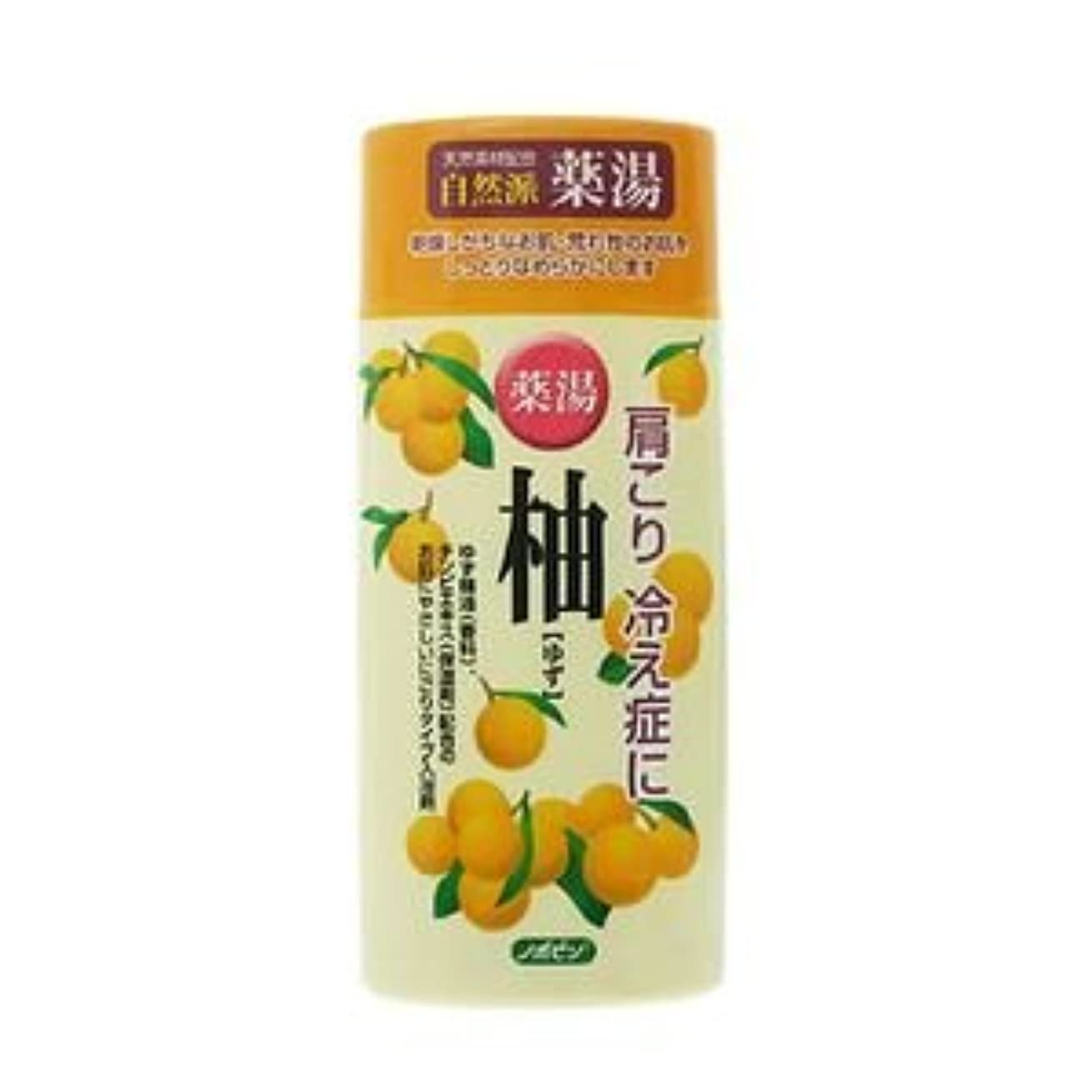地震倫理的に付ける紀陽除虫菊 ノボピン 薬湯 柚 ゆず(にごり湯) 480gボトル【まとめ買い20個セット】 N-0018