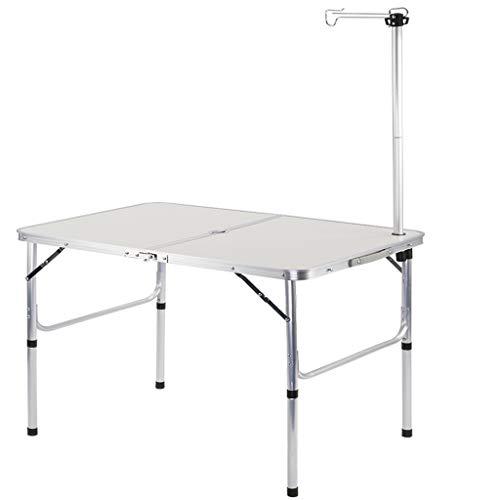 WELQUIC アウトドア 折りたたみ テーブル キャンプテーブル 2段階高さ調整可能 パラソル穴 ライトポール付き 軽量 持ち運び便利 耐荷重30kg