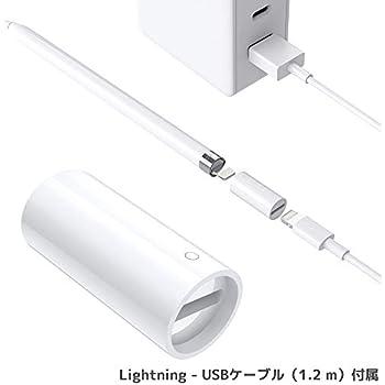 I Pencil アダプタ iPad Pro Pencil充電コネクタ アップルペンシル専用充電コネクタ MiiKARE Pencil充電対応 メス‐メスコネクタ ライトニングUSBケーブル用変換アダプタ (1個セット)