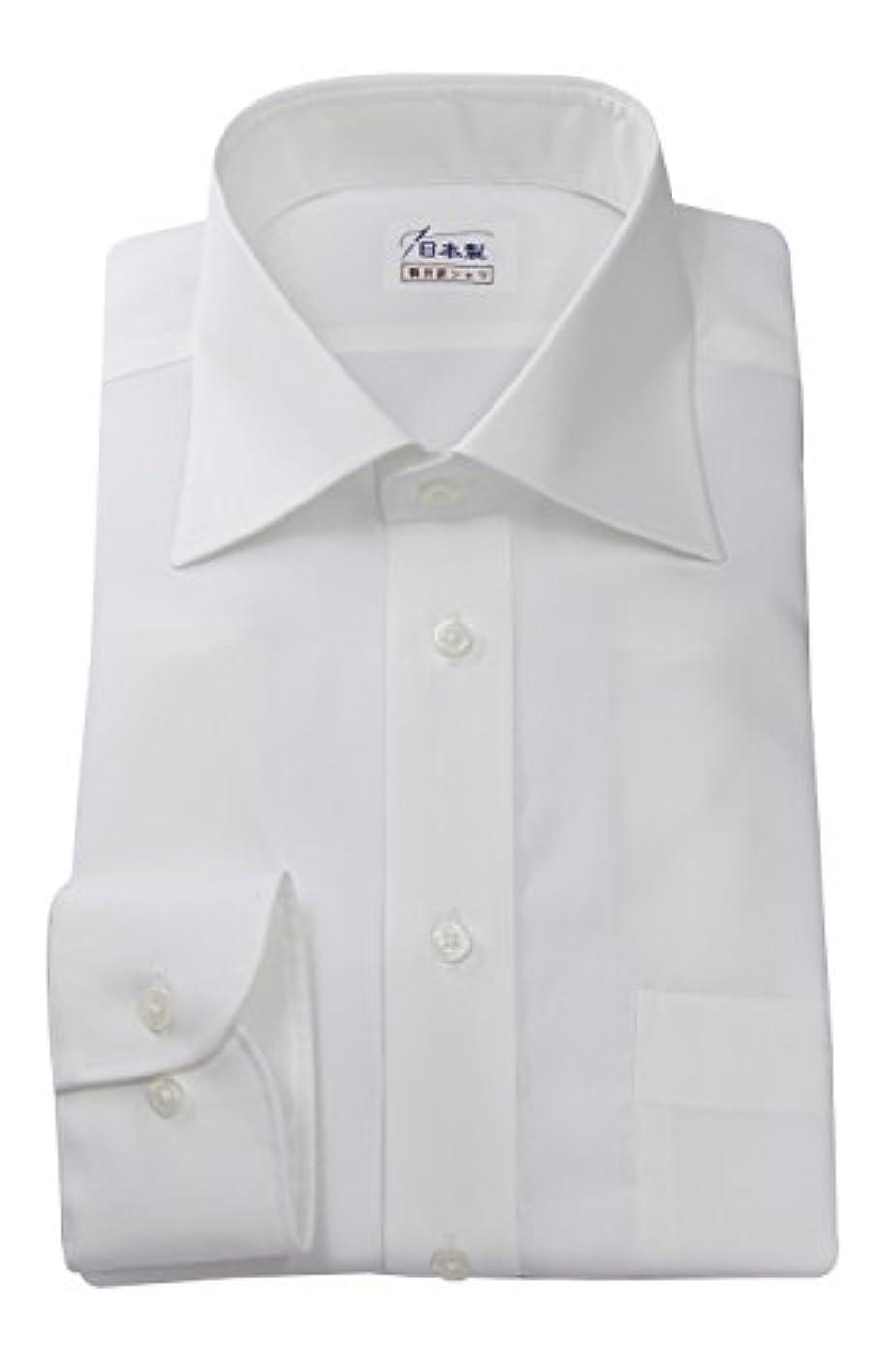 最終上不器用ワイシャツ 軽井沢シャツ [A10KZW026] ワイドスプレッド ホワイト 純綿 形態安定 らくらくオーダー受注生産商品