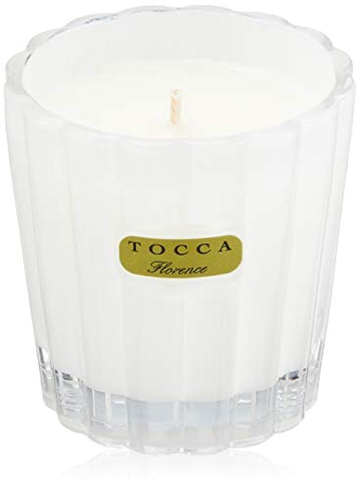 レクリエーション排他的マイナストッカ(TOCCA) キャンデリーナ フローレンスの香り 約85g (キャンドル ろうそく 上品なフローラルの香り)