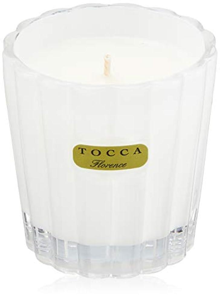 洪水陰謀荒涼としたトッカ(TOCCA) キャンデリーナ フローレンスの香り 約85g (キャンドル ろうそく 上品なフローラルの香り)