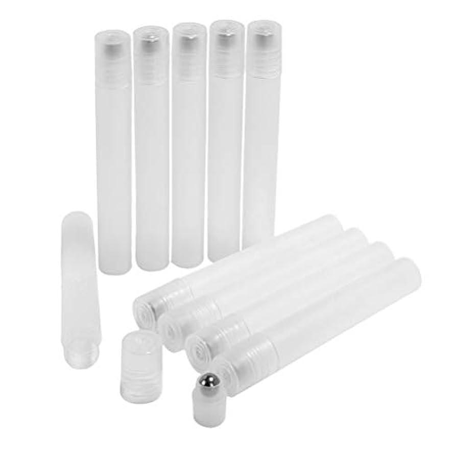 口勉強するアイスクリームFrcolor ロールオンボトル 10ml ロールタイプ 精油 香水 小分け用 多機能 アロマボトル 保存容器 10本セット 透明