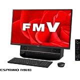 富士通 27型 デスクトップパソコンFMV ESPRIMO FH90/B3 オーシャンブラック(Office Home&Business Premium プラス Office 365) FMVF90B3B