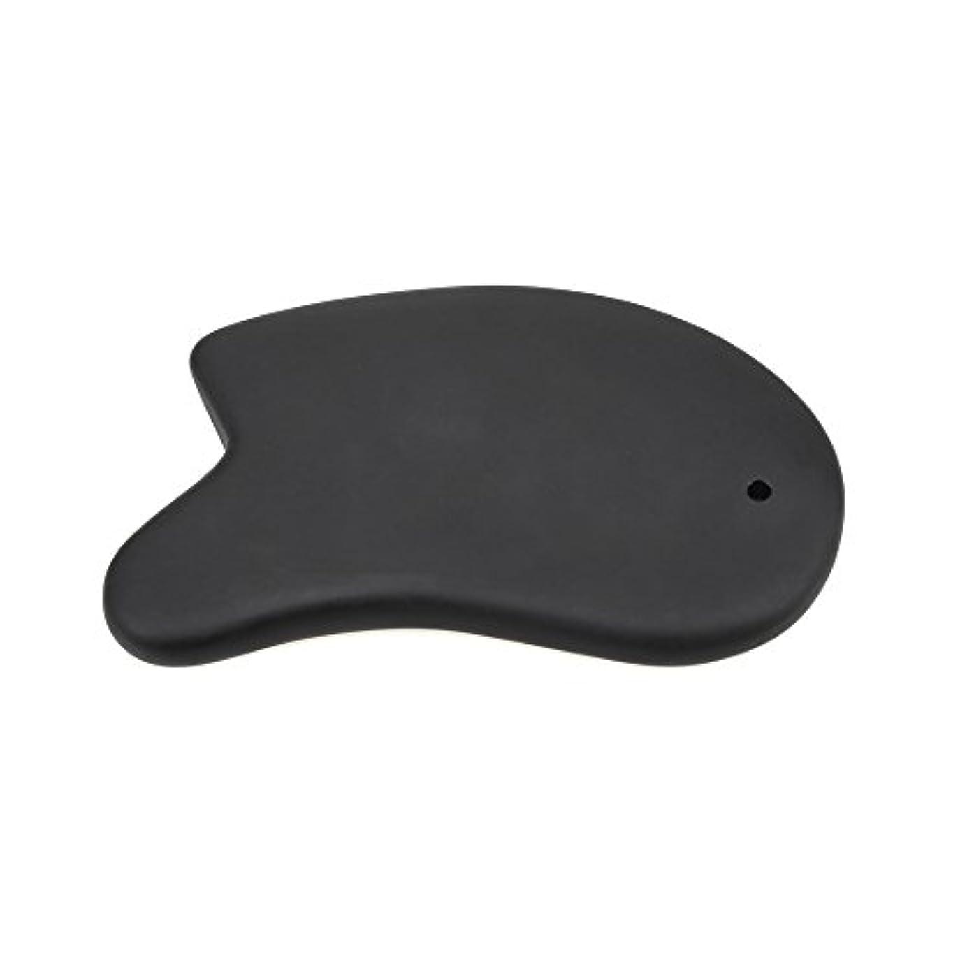 Windfulogo 刮痧板 手作りグアシャ擦りマッサージツールグラストンスパ用の天然ビアンストーングアシャーボード顔、背中、首、肩に鍼治療
