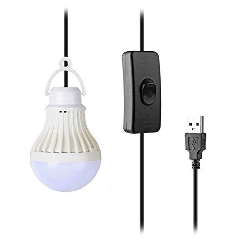 TopYart ポータブル LEDライト電球形 USB充電 ...
