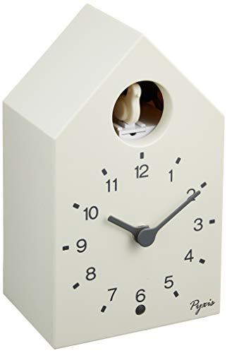 セイコー クロック 掛け時計 置き時計 兼用 アナログ かっこう時計 数取り PYXIS ピクシス 白 NA610W SEIKO