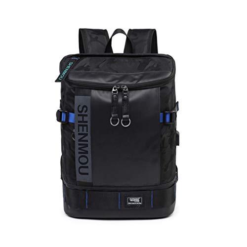 6ea790366d2a ShenMou スクエア リュック メンズ 人気 バック パック usbポート付き 防水 高通気性 超軽量 大容量 多用途 多機能 ハイキングバッグ  収納性抜群 かばん男性用 山登.