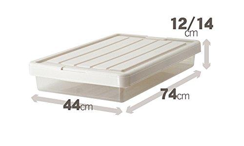 天馬 フィッツケース スリムボックス 幅44×奥行74×高さ12・14cm カプチーノ