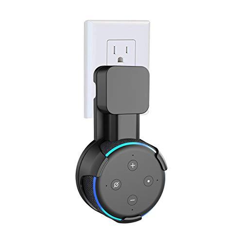 SPORTLINK Dot3 壁掛け ホルダー Dot 第3世代(Newモデル) スマート スピーカー マウント コード収納 スタンド カバー 保護ホルダー Dot3 ケース スピーカースタンド アクセサリー(ブラック)