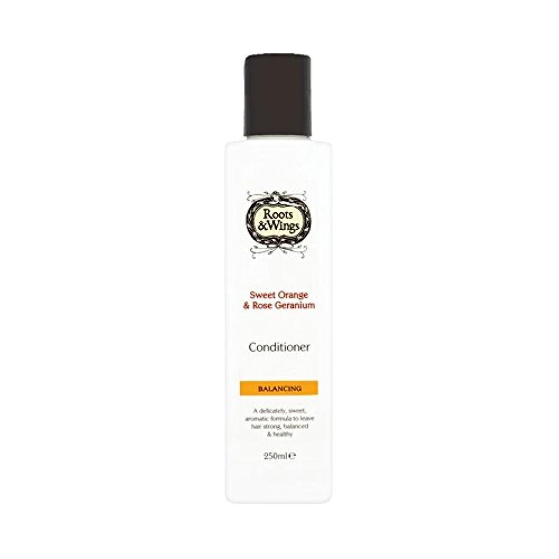 同化残酷砂利Roots & Wings Conditioner Sweet Orange & Rose Geranium 250ml (Pack of 2) - ルーツ&翼は甘いオレンジ、コンディショナー&ゼラニウム250ミリリットル...
