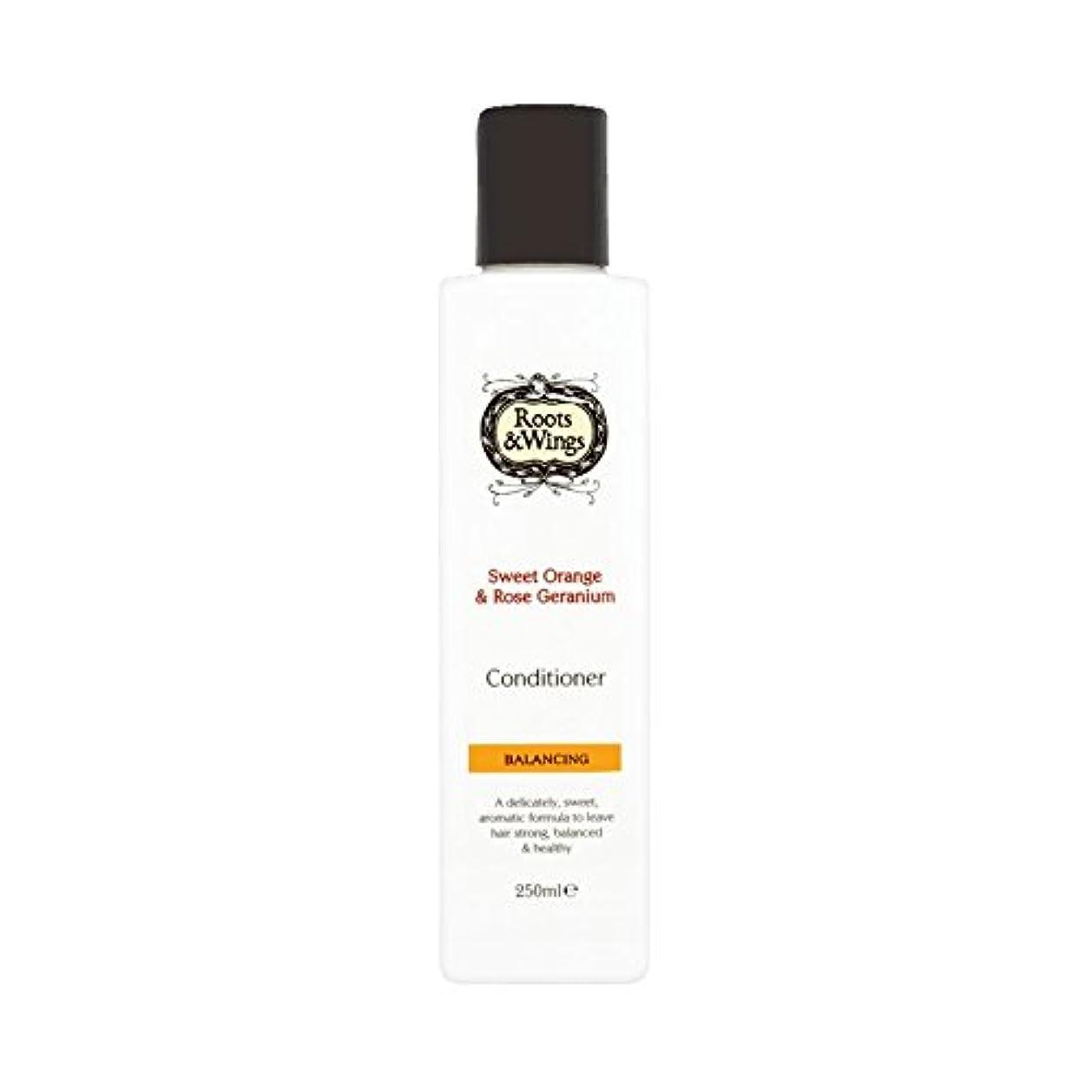 悪化させるミュウミュウ筋Roots & Wings Conditioner Sweet Orange & Rose Geranium 250ml (Pack of 2) - ルーツ&翼は甘いオレンジ、コンディショナー&ゼラニウム250ミリリットル...