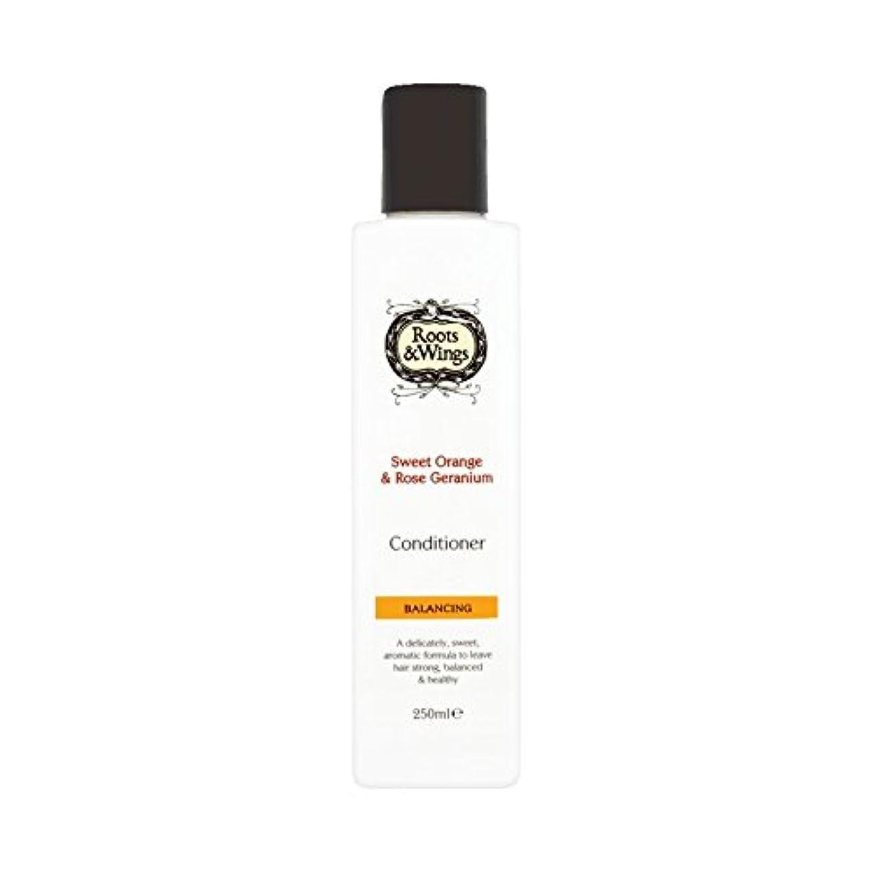 懲らしめ狭い代替Roots & Wings Conditioner Sweet Orange & Rose Geranium 250ml (Pack of 6) - ルーツ&翼は甘いオレンジ、コンディショナー&ゼラニウム250ミリリットル...