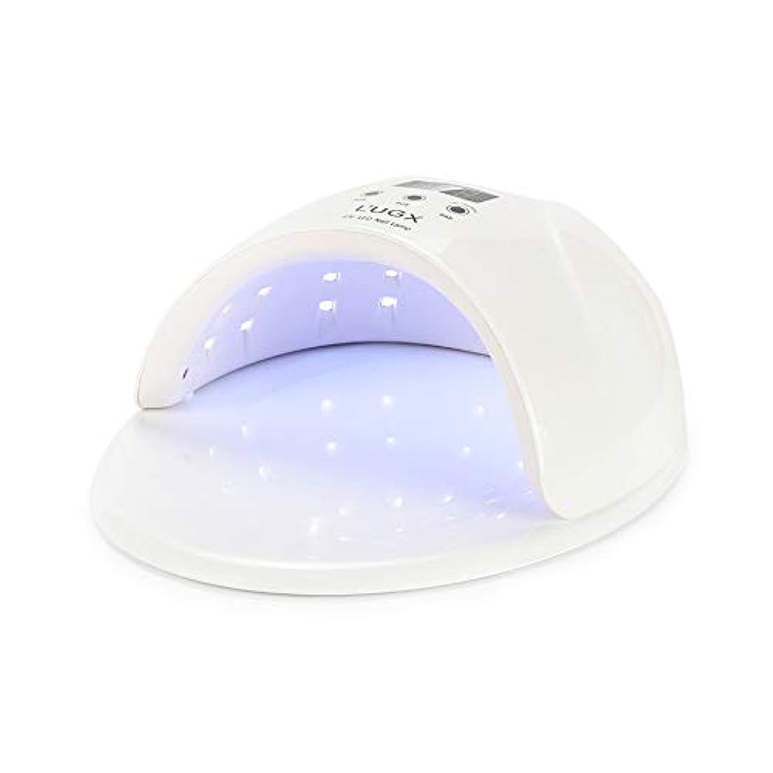 自発的クライアント五ジェルネイルランプ、3タイマー設定付き50W UV LEDジェルネイルドライヤー - ジェルネイルポリッシュランプ