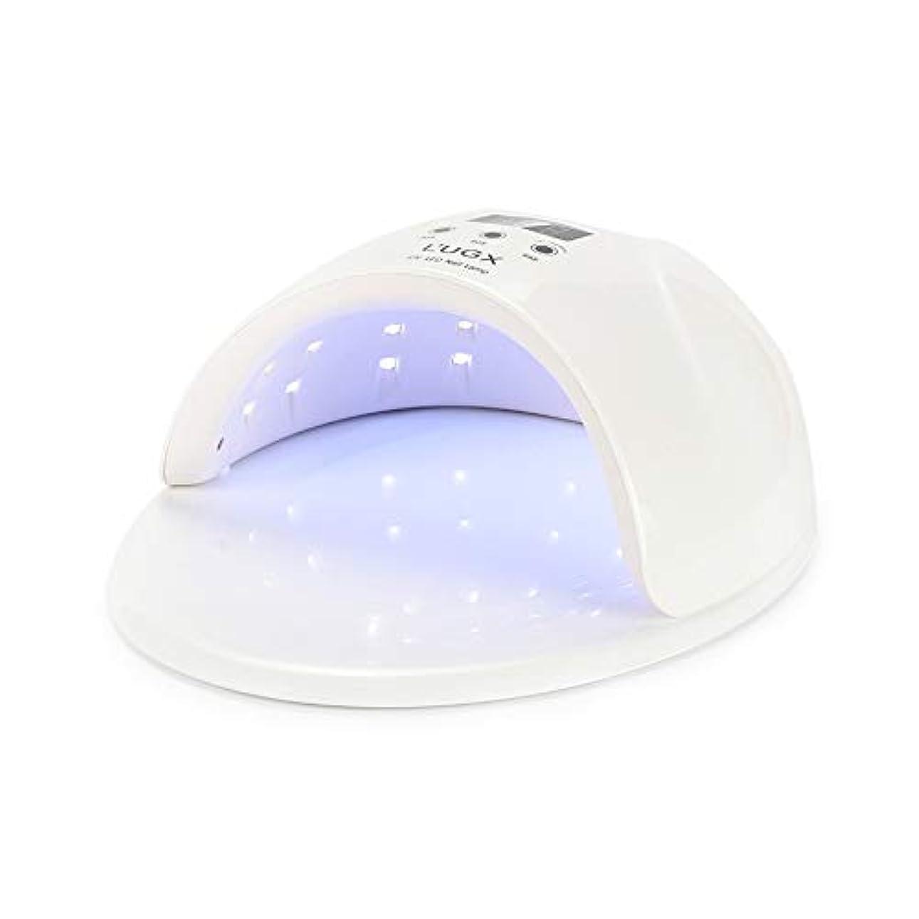 持続する真面目なこしょうジェルネイルランプ、3タイマー設定付き50W UV LEDジェルネイルドライヤー - ジェルネイルポリッシュランプ
