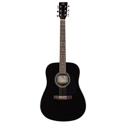 SX エスエックス ドレッドノート アコースティックギター SD1 BK キャリングバッグ付