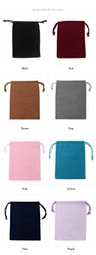 選べる8種類ポーチ|アクセサリーや小物入れに |大サイズ 8色 高級感たっぷりのベロア巾着袋|1枚売り| 10P20Sep14 Black