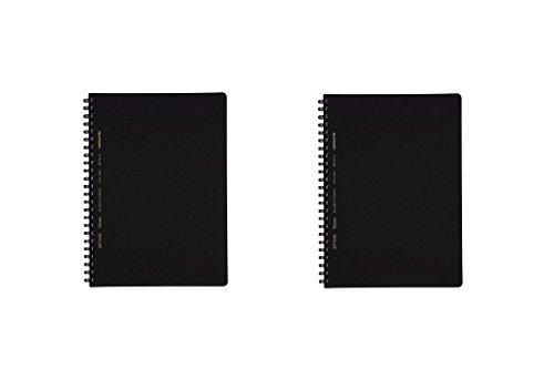 コクヨ ソフトリングノート ビジネス(方眼罫/B罫)70枚 A5 黒 ス-SV437S5-D/B-D 2種2冊組み