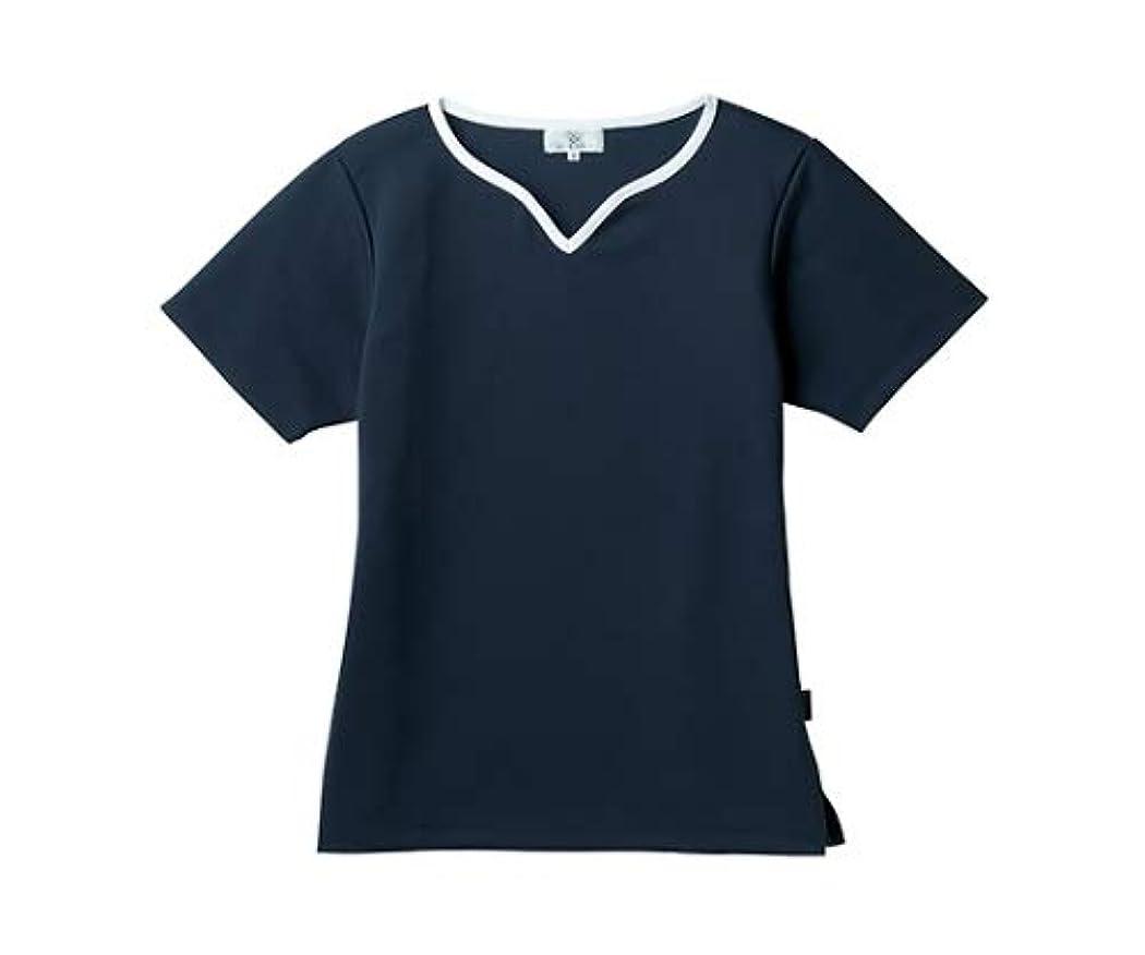 ラリー進む彼女のトンボ/KIRAKU レディス入浴介助用シャツ CR161 3L ネイビー