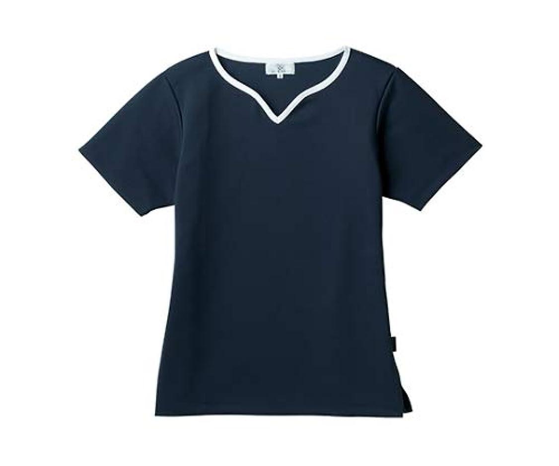 間欠人差し指数値トンボ/KIRAKU レディス入浴介助用シャツ CR161 3L ネイビー