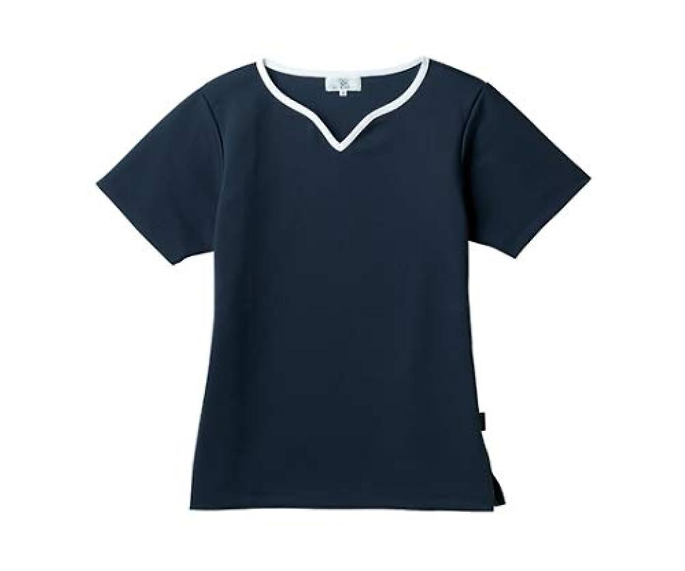 センブランスメジャー田舎者トンボ/KIRAKU レディス入浴介助用シャツ CR161 LL ネイビー