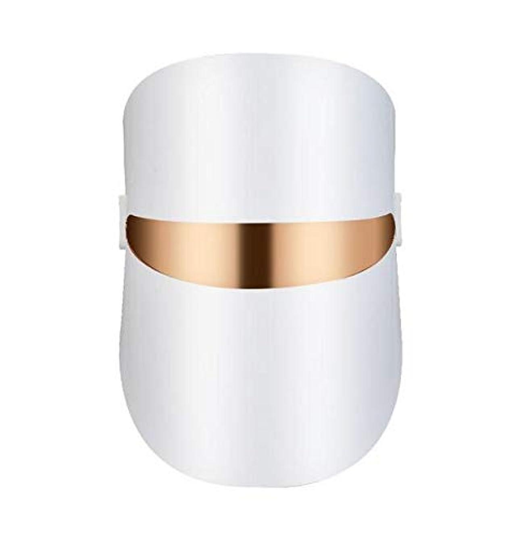 鼓舞するのみ頭痛LEDマスクフェイシャルケアアンチリンクルマシンにきび除去美容スパデバイス肌の若返りホワイトフェイスマスカー