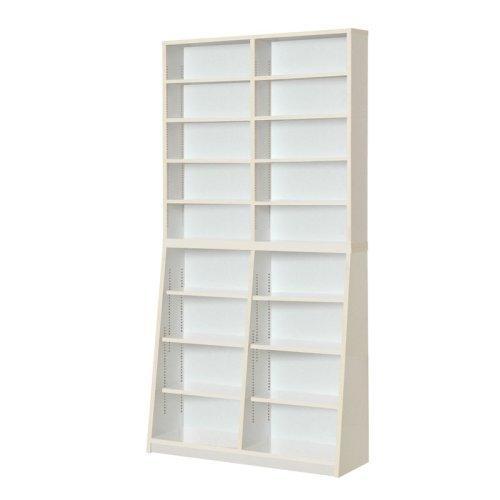 JKプラン Sanchi 文庫本ラック 棚 調節 可能 1cm 間隔 収納 ラック 本棚 90 高さ180 ホワイト YH-110H-WH