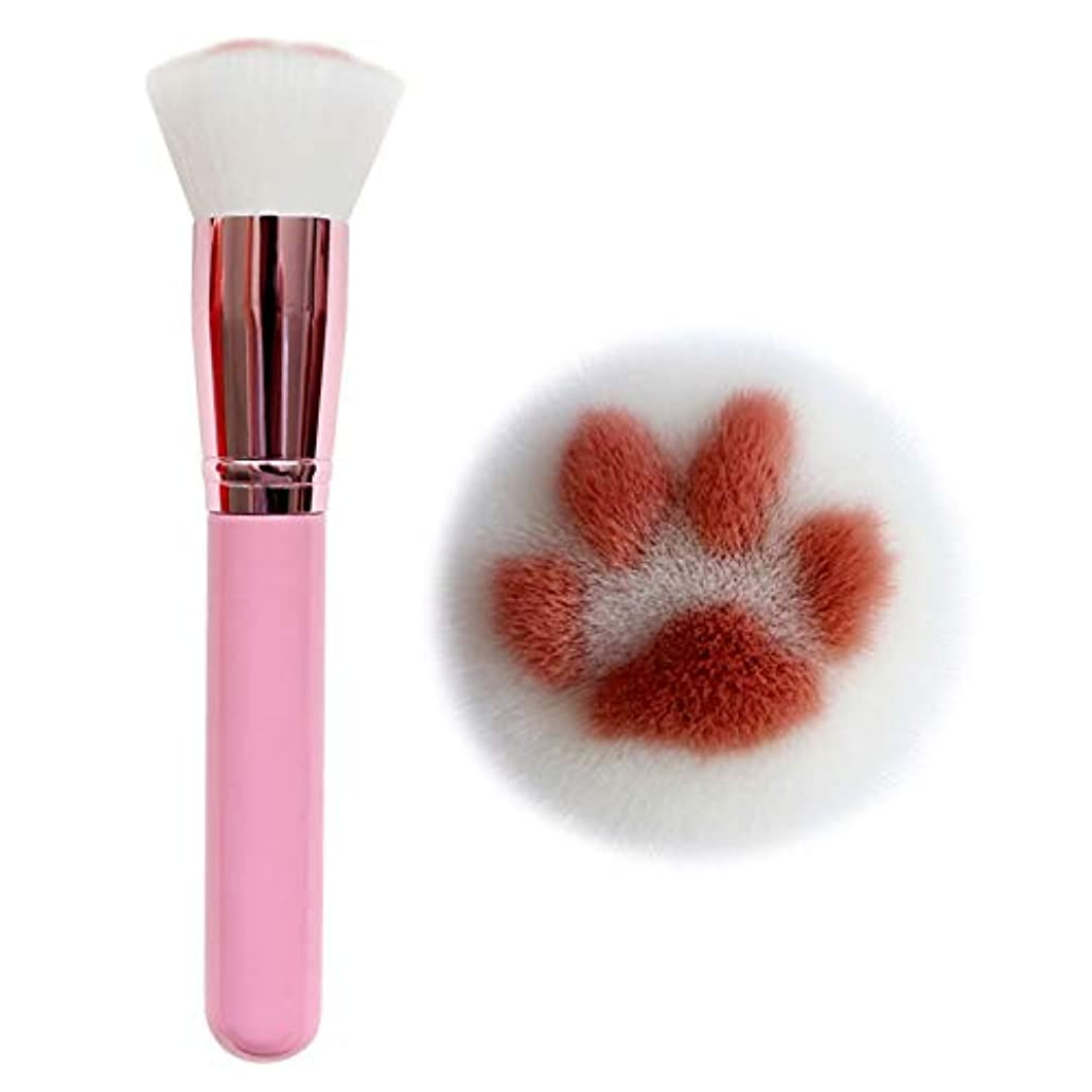 送金資格社員LOCKYOU メイクアップブラシ かわいい猫の爪 化粧筆 ファンデーションブラシ フェイスブラシ 上等な使用感