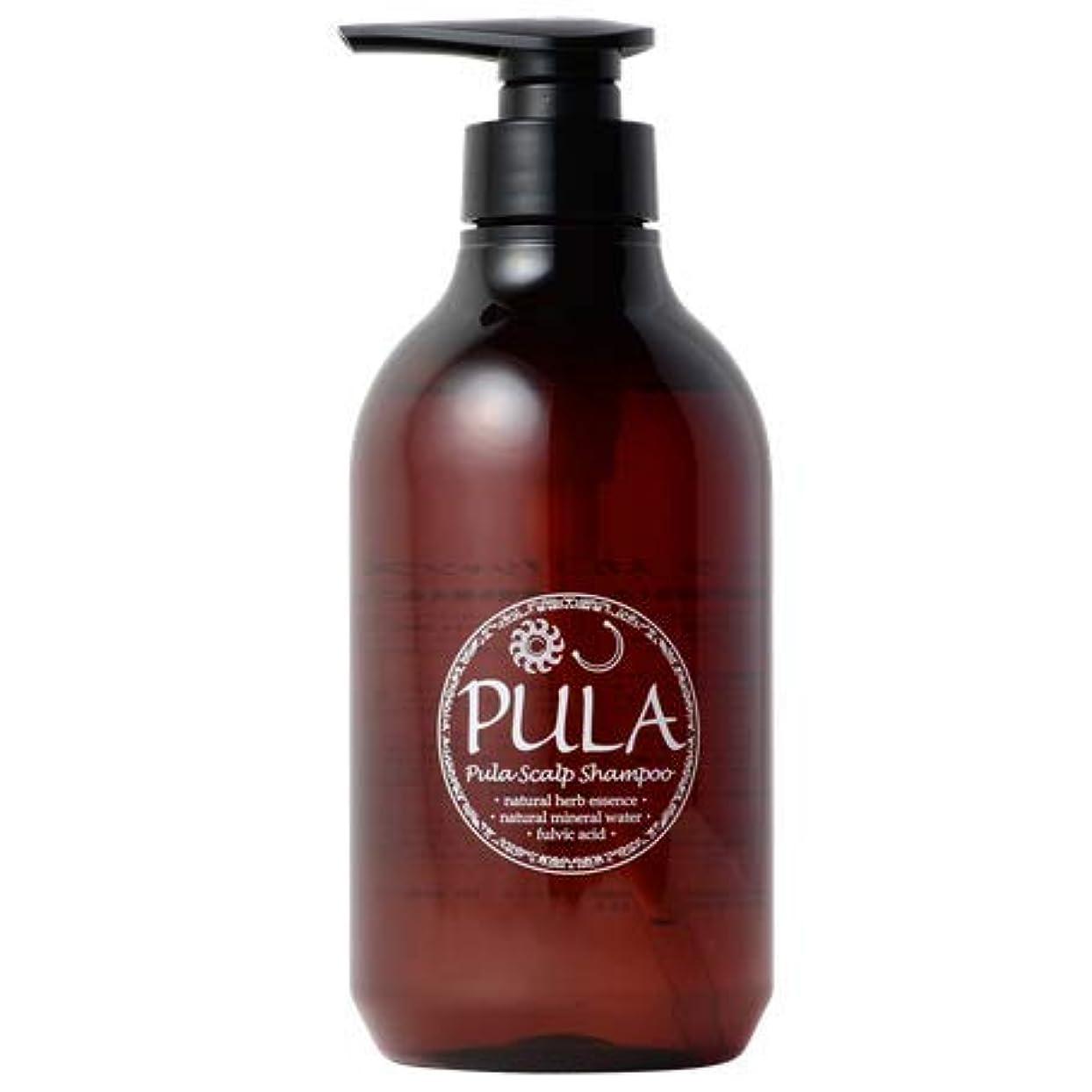 鼓舞する五シンプルなプーラ スカルプ シャンプー 500ml 【 天然フレグランス/頭皮に優しい 】 ヘッドスパ専門店 PULA 自然由来配合