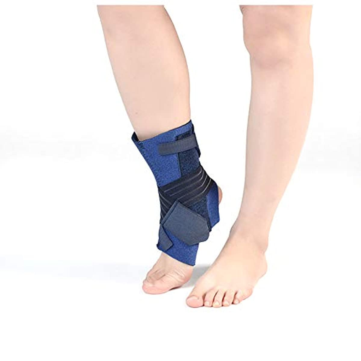 個性ジョグ電子足首サポート、男性/女性用の調節可能なベルクロ足首ブレース、スポーツ用足首ラップ、捻rain、靭帯損傷、アキレス腱、関節炎,S