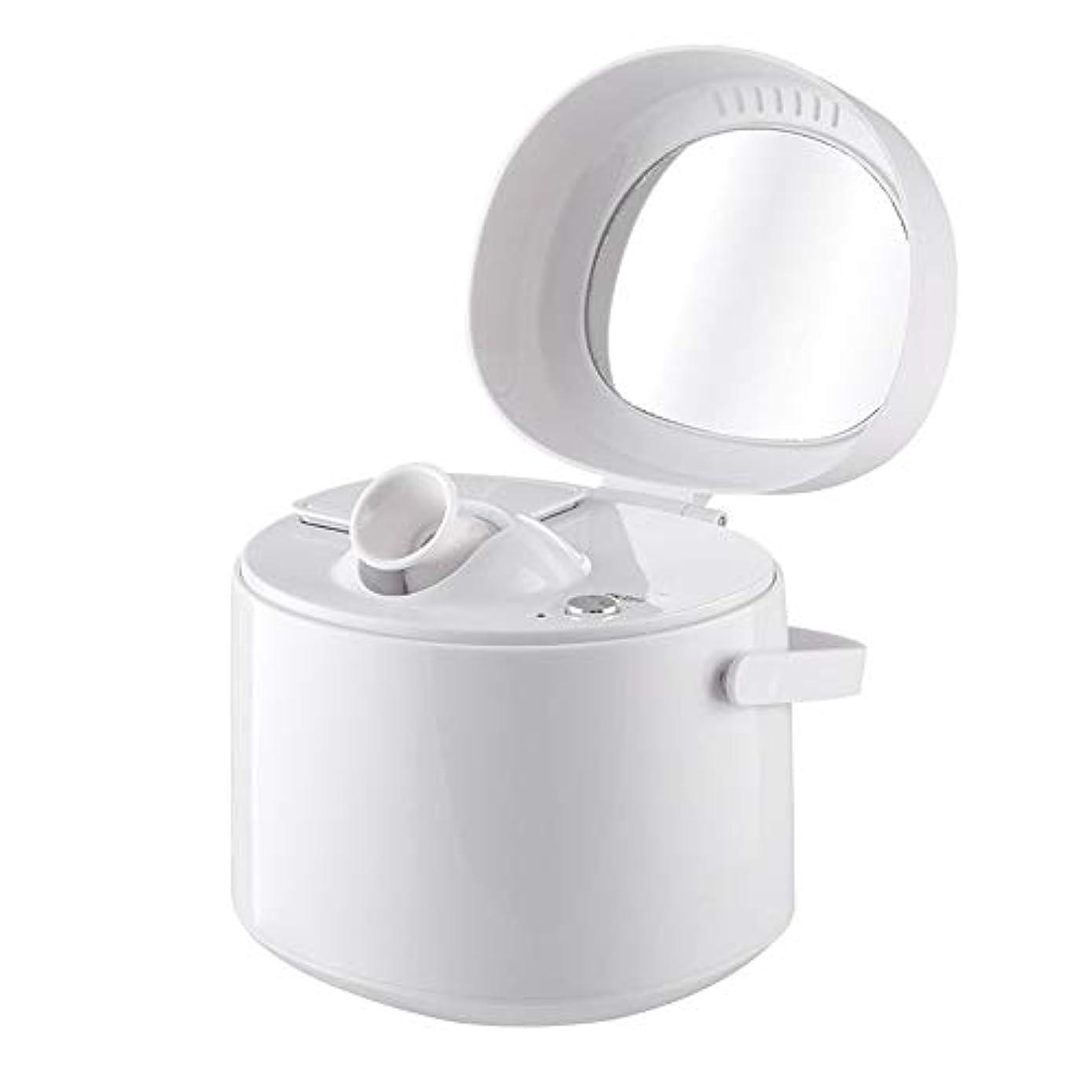 ええ熟読昇るZXF ホットスプレースチームフェイス美容器具ホームナノイオン保湿スプレー美容器具美容ミラーホワイト 滑らかである