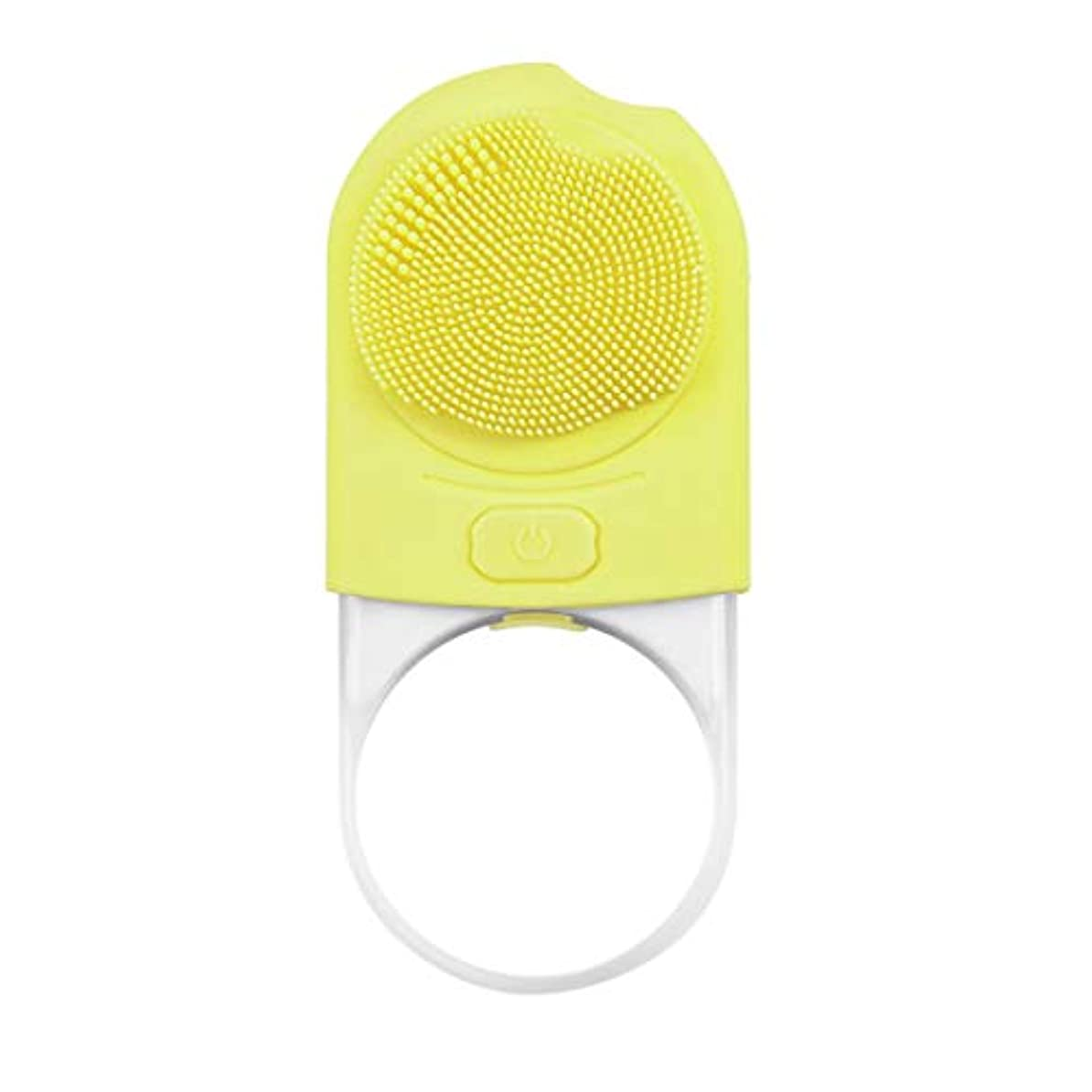 タイヤオーケストラ塊洗顔ブラシ、シリコーンクレンジング器、超音波振動洗濯機、熱マグネティクスの暖かくきれいな、きれいな毛穴、4速の調整 (Color : B)