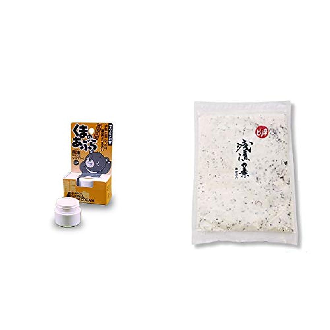 輸血付属品海港[2点セット] 信州木曽 くまのあぶら 熊油スキン&リップクリーム(9g)?浅漬けの素 大 (300g)