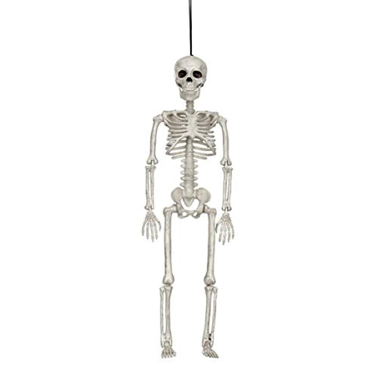 まっすぐにする分岐する不変ハロウィン人間の骨格モデルホラーディスプレイペンダント小道具デスクトップの装飾