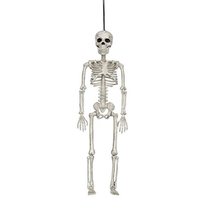コンパニオン笑いパン屋ハロウィン人間の骨格モデルホラーディスプレイペンダント小道具デスクトップの装飾