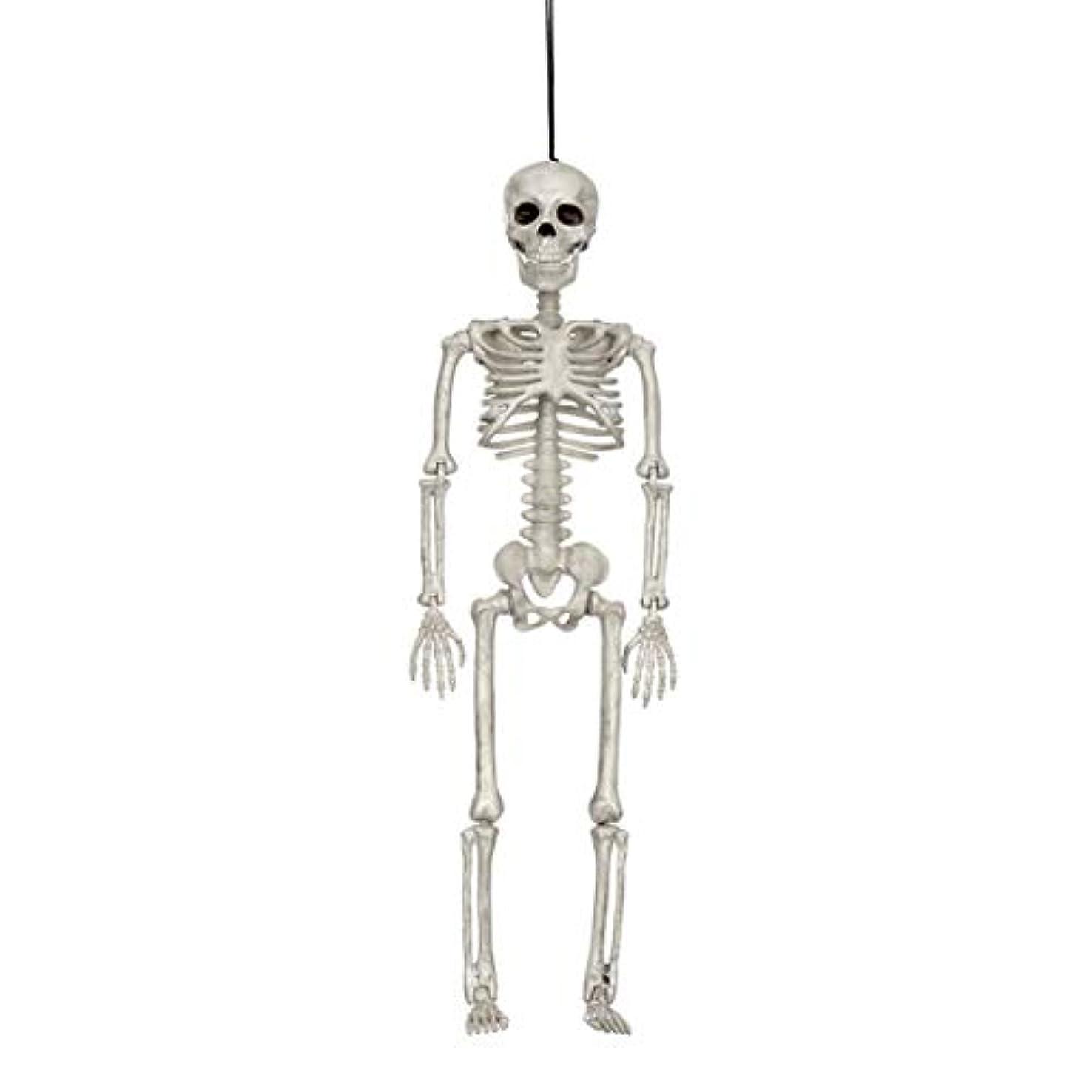 過剰脅威豆腐ハロウィン人間の骨格モデルホラーディスプレイペンダント小道具デスクトップの装飾