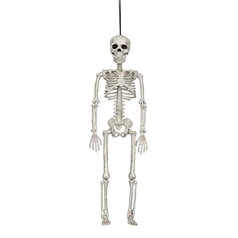 部分的にランチ電卓ハロウィン人間の骨格モデルホラーディスプレイペンダント小道具デスクトップの装飾