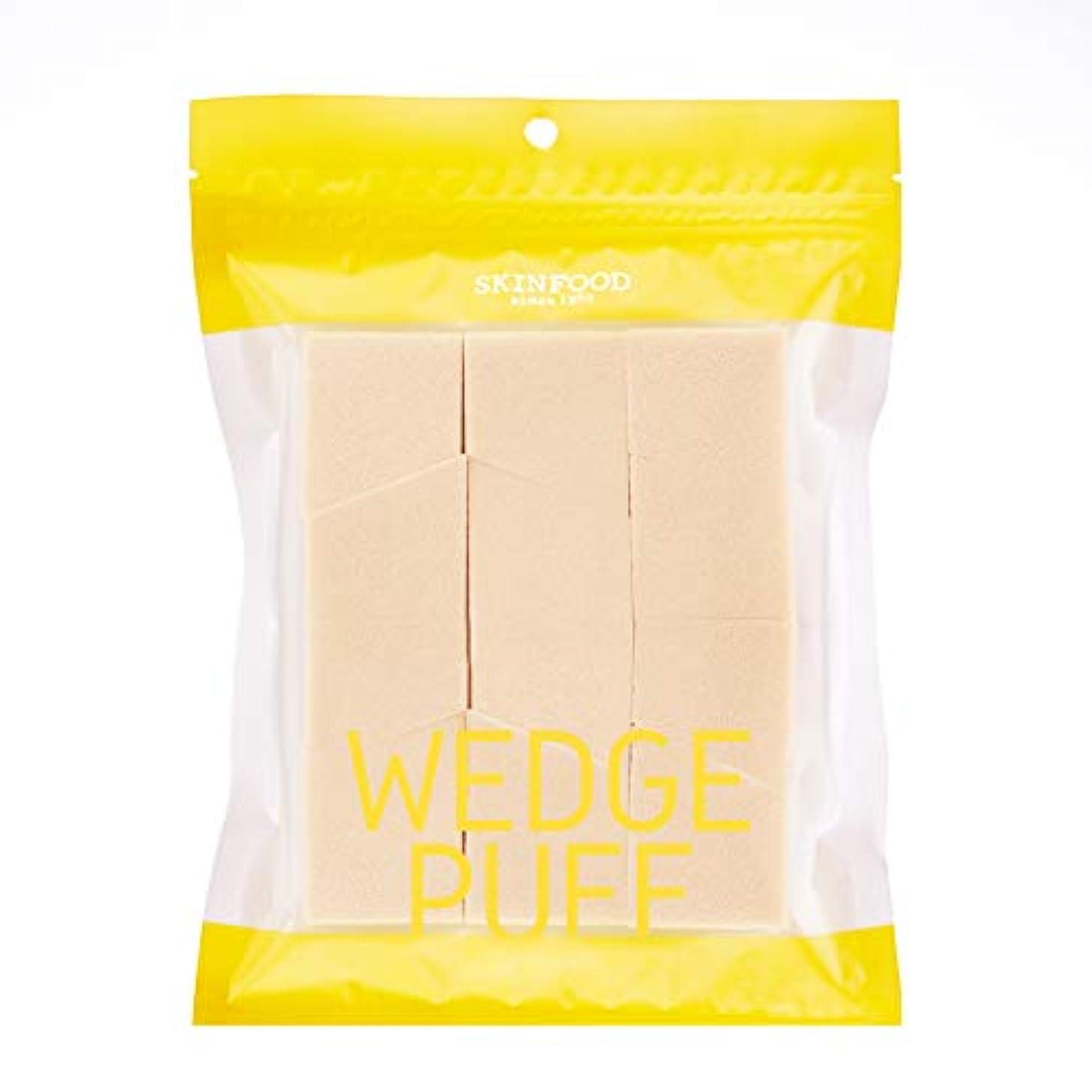 カプラー明確なモットー[2016 New] SKINFOOD Wedge Puff Sponge Jumbo Size (12pcs)/スキンフード ウェッジ パフ スポンジ ジャンボサイズ (12個入り)