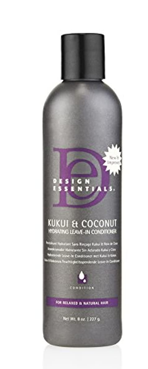 ゴミ箱ビジネス助言Design Essentials ククイ&ココナッツハイドは、リーブインコンディショナー、リラックスしたナチュラルヘア-8オンスのために強化。 8オンス