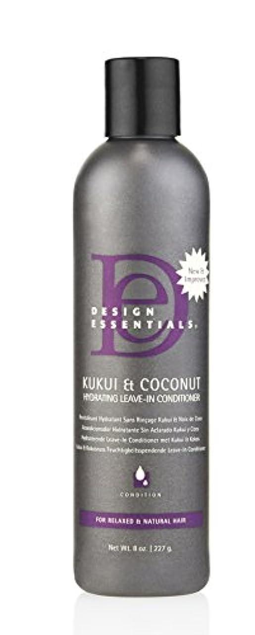 同意フィドル誰でもDesign Essentials ククイ&ココナッツハイドは、リーブインコンディショナー、リラックスしたナチュラルヘア-8オンスのために強化。 8オンス